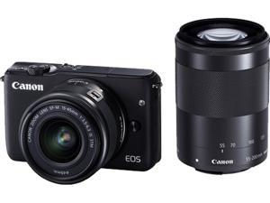 Canon EOS M10 0584C031 Mirrorless Digital Camera with 15-45mm and 55-200mm Lenses Black