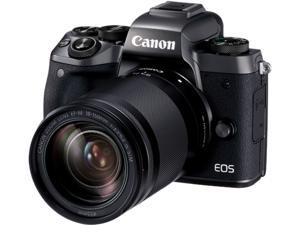 """Canon EOS M5 1279C021AA Black 24.2 MP 3.2"""" LCD Compact Mirrorless System Camera with EF-M 18-150mm Lens"""