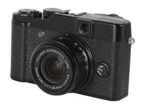 FUJIFILM X10 Black 12.0 MP 4X Optical Zoom 28mm Wide Angle Digital Camera