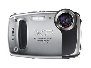 FUJIFILM FinePix XP50 600011795 Silver 14.4 MP Waterproof Shockproof 28mm Wide Angle Digital Camera