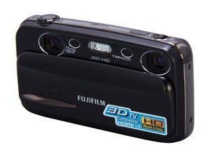 FUJIFILM FinePix 3D W3 Black 10 MP Digital Camera HDTV Output