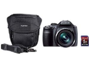 FUJIFILM SL260BNDL 600012270 Black 14MP Digital Camera Kit: Includes Fujifilm 4GB Class 6 SD Memory Card & Case