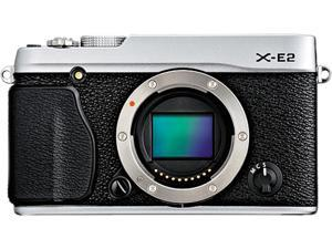 "FUJIFILM X-E2 16404791 Silver 16.3 MP 3.0"" 1040K LCD Compact Mirrorless System Camera - Body"