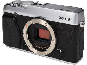 "FUJIFILM X-E2 16404791 Silver 16.3 MP 3.0"" 1040K LCD Compact Mirrorless System Camera - Body"