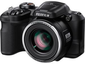 FUJIFILM FinePix S8600 16407145 Black 16.0 MP 36X Optical Zoom 25mm Wide Angle Digital Camera HDTV Output