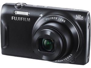 FUJIFILM FinePix T500 T500RFB-RFB Black 16 MP 24mm Wide Angle Digital Camera