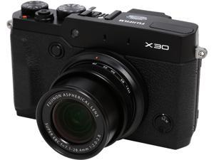 FUJIFILM X30 Black 12.0 MP 4X Optical Zoom 28mm Wide Angle Digital Camera HDTV Output