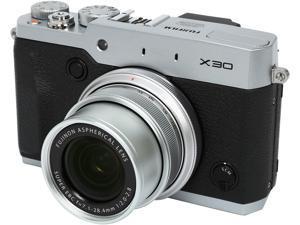 FUJIFILM X30 Silver 12.0 MP 4X Optical Zoom 28mm Wide Angle Digital Camera HDTV Output