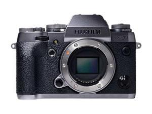 FUJIFILM X-T1 16442755 Graphite Silver 16.3 MP 3.0 1040K LCD Mirrorless Digital Camera - Body