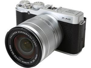 "FUJIFILM X-A2 16455116 Silver 16.3 MP 3.0"" 920K LCD Mirrorless Digital Camera with 16-50mm Lens"