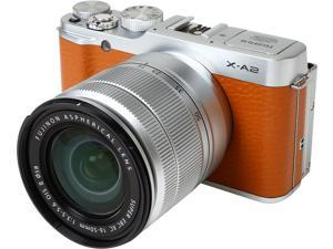 "FUJIFILM X-A2 16455130 Brown 16.3 MP 3.0"" 920K LCD Mirrorless Digital Camera with 16-50mm Lens"
