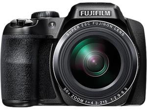FUJIFILM FinePix S9900W Black 16.2 MP 50X Optical Zoom 24mm Wide Angle Digital Camera HDTV Output