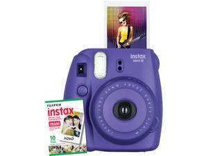 Instax Mini 8 Instant Camera with 10 exposure Film - Electric Purple