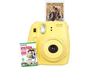 Instax Mini 8 Instant Camera with 10 exposure Film - Funky Yellow