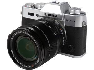 "FUJIFILM X-T10 16471574 Silver 16.3 MP 3.0"" 920K LCD Mirrorless Interchangeable Lens Camera with XF18-55mmF2.8-4 R LM OIS Lens"