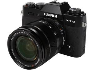 "FUJIFILM X-T10 16471005 Black 16.3 MP 3.0"" 920K LCD Mirrorless Interchangeable Lens Camera with XF18-55mmF2.8-4 R LM OIS Lens"