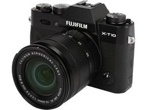 "FUJIFILM X-T10 16470817 Black 16.3 MP 3.0"" 920K LCD Mirrorless Interchangeable Lens Camera with XC16-50mmF3.5-5.6 OIS II Lens"