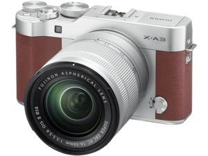 Fujifilm X-A3 16531647 Mirrorless Digital Camera with 16-50mm Lens (Brown)