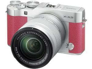 Fujifilm X-A3 16531659 Mirrorless Digital Camera with 16-50mm Lens (Pink)
