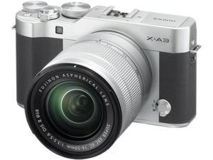 Fujifilm X-A3 16531635 Mirrorless Digital Camera with 16-50mm Lens (Silver)