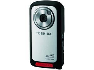 "Toshiba Camileo BW10 Silver 5.0 MP CMOS 2.0"" LCD 10x Digital Full HD Waterpoof Camcorder"