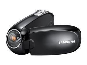 "SAMSUNG SMX-C24 Black 1/6"" CCD 2.7"" 480K LCD 10X Optical Zoom HDD/Flash Memory Camcorder"