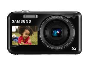 SAMSUNG PL 120 Black 14.2 MP 5X Optical Zoom 26mm Wide Angle Digital Camera