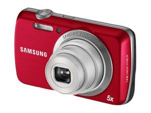 SAMSUNG PL 20 Red 14.2 MP 5X Optical Zoom 27mm Wide Angle Digital Camera