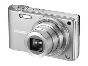 SAMSUNG PL 210 Silver 14.2 MP 27mm Wide Angle Digital Camera