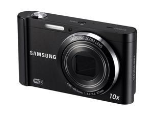 SAMSUNG ST200F Black 16.1 MP 27mm Wide Angle Wireless-enabled Smart Digital Camera