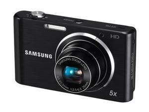 SAMSUNG ST76 Black 16.1 MP 25mm Wide Angle Digital Camera
