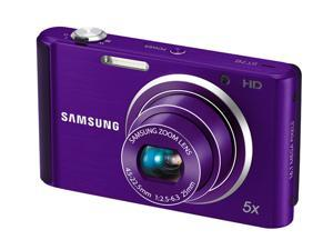 SAMSUNG ST76 Purple 16.1 MP 25mm Wide Angle Digital Camera