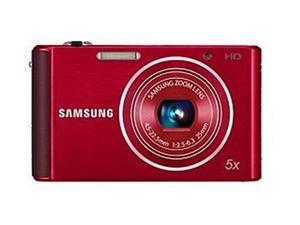 SAMSUNG ST76 Red 16.1 MP 25mm Wide Angle Digital Camera