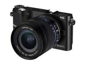 "SAMSUNG NX210 (EV-NX210ZBSBUS) Black 20.3 MP 3.0"" AMOLED LCD Compact System Camera w/ 18-55mm Lens"