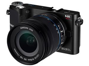 Samsung NX200 20.3 Megapixel Mirrorless Camera (Body with Lens Kit) - 18 mm - 55 mm - Black