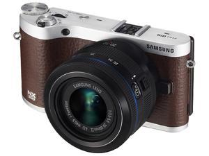 Samsung NX300 20.3 Megapixel Mirrorless Camera (Body with Lens Kit) - 20 mm - 50 mm - Brown