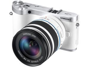 SAMSUNG NX300 (EV-NX300ZBQUUS) White Mirrorless Digital Camera with 18-55mm f/3.5-5.6 OIS Lens