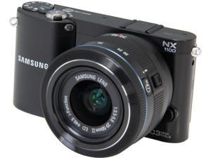 "SAMSUNG NX1100 Black 20.3 MP 3.0"" 921K LCD Smart Compact Camera System with 20-50mm f/3.5-5.6 Lens"