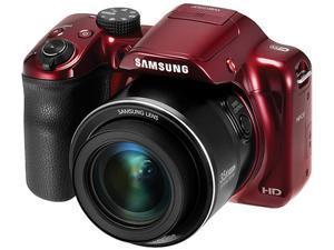 SAMSUNG WB1100F Red 16.2 Megapixel 35X Optical Zoom Smart Digital Camera
