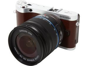 "SAMSUNG NX300m EV-NX300MBSVUS Brown 20.3MP 3.31"" 768K Touch LCD Smart Camera with 18-55mm Lens"