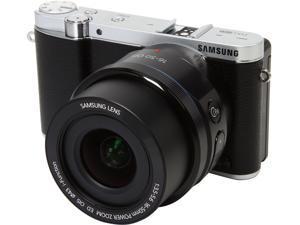 "SAMSUNG NX3000 EV-NX3000BOIUS Black 20.3MP 3.0"" 460.8K LCD Mirrorless Digital Camera with 16-50mm Lens"