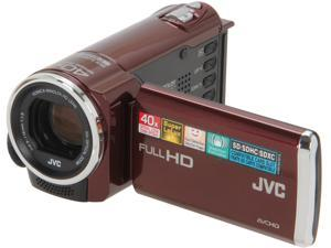 JVC GZ-E10 Red Full HD HDD/Flash Memory Camcorder