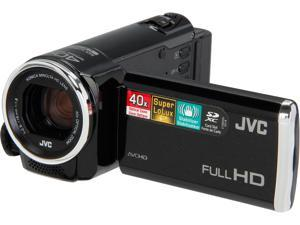 JVC GZ-E100B GZE100BUS Black Full HD HDD/Flash Memory Camcorder