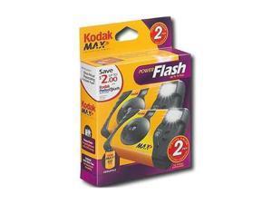 Kodak 8951428 Black Power Flash Single Use Camera 2 PACK 27 EXP