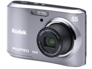 Kodak FZ41-SL Silver 16.15 Megapixels 4X Optical Zoom Wide Angle Friendly Zoom Digital Camera
