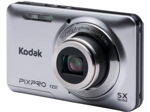 Kodak FZ51-SL Silver 16.15 Megapixels 5X Optical Zoom Wide Angle Friendly Zoom Digital Camera