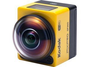 "Kodak PIXPRO SP360 SP360-YL4 Yellow 16.38 MP 1"" Action Camera - Aqua Pack"