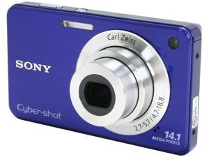 SONY DSCW560/L Blue 14.1 MP 4X Optical Zoom 26mm Wide Angle Digital Camera