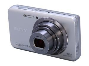 Sony DSC-W650 Silver Digital Camera with 16.1MP and 720P HD Video