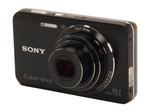 Sony DSC-W650/B Black Digital Camera with 16.1MP and 720P HD Video